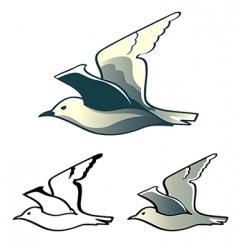 seagull logo vector image