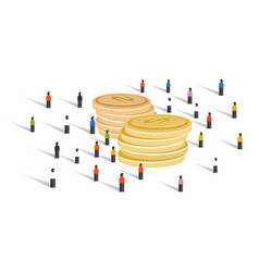 Crowd-funding money financial donation crowd group vector