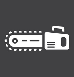 chainsaw glyph icon build and repair vector image
