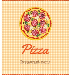 Pizza menu vector