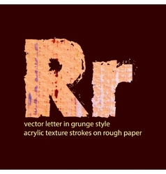 Grungy letter r vector