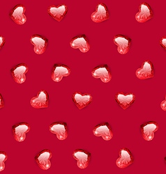 Ruby gem hearts seamless pattern vector