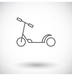 Scooter child vector