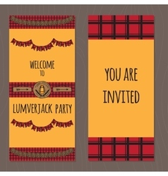 Lumberjack party ideas vector