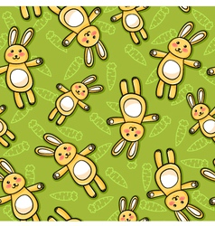 Rabbits pattern vector