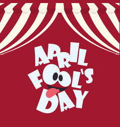 April fools day typographical red background vector