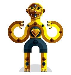 Avant-garde avatar colorful drawing of bizarre vector