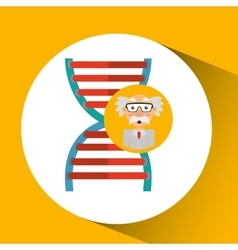 character man scientist dna medical vector image