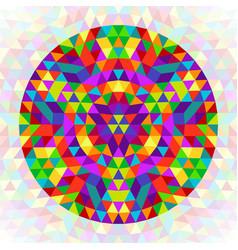 Circular geometrical triangle mandala design - vector