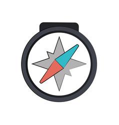 compass navigation icon image vector image