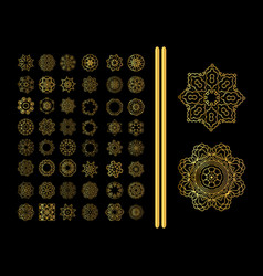 decorative ornate snowflake vector image vector image