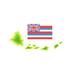 Flag hawaiian vacation classic symbol vector