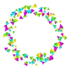 Frame with colourful sparlking confetti bright vector