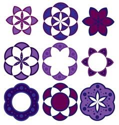 geometric patterns ornament vector image