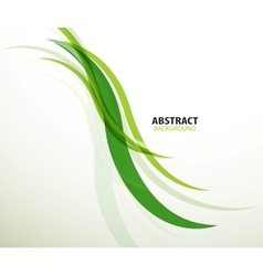 Green eco lines abstract background vector image vector image