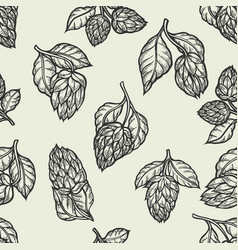hop seamless pattern vector image vector image