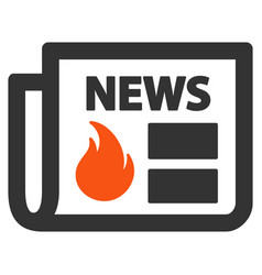 Hot news flat icon vector