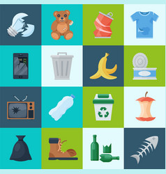 household and waste vector image