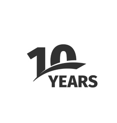 Isolated abstract black 10th anniversary logo on vector