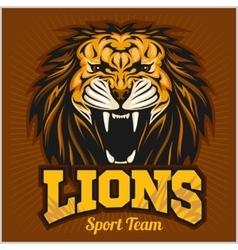 Lions - sport team logo template lion head on the vector