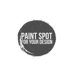 paint spot circle grunge banner vector image vector image