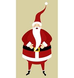 Santa greeting card vector