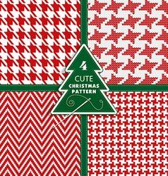 Seamless fashion christmas texture vector