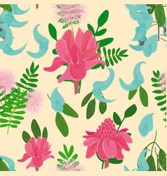 Seamless pattern with ginger flowers vector