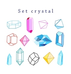 set of crystals vector image