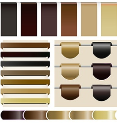 Set website the coffee color vector image