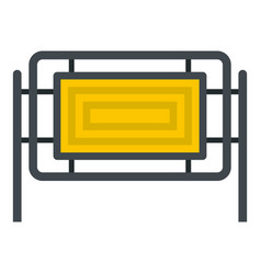 Square fence icon isolated vector