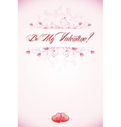 Valentines Day Calligraphic Headline vector image