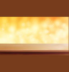 Wood table top orange autumn yellow vector