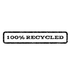 100 percent recycled watermark stamp vector image