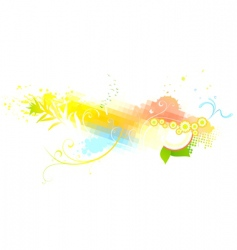 Funky abstract background vector