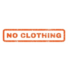 No clothing rubber stamp vector