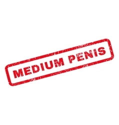 Medium penis rubber stamp vector
