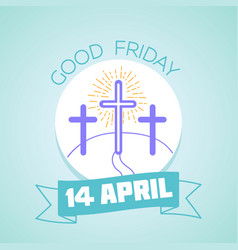 Calendar good friday vector