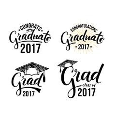Set of graduation labels vector