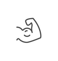 Biceps line icon vector