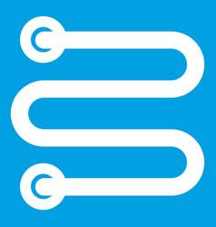 Heated towel rail icon white vector