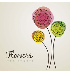 Delicate flowers vector