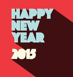 Happy new year 2015 retro vector