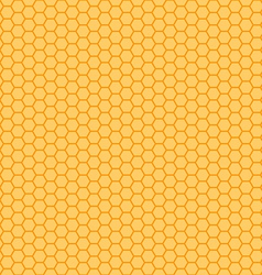 Honeycomb orange and yellow seamless vector