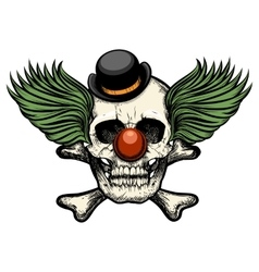 Clown skull vector