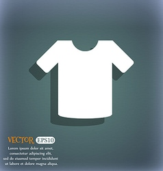 T-shirt clothes icon symbol on the blue-green vector