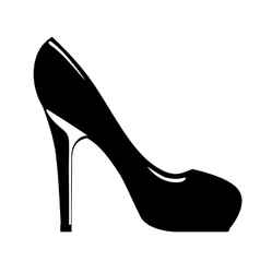 Beautiful fashion heel isolated icon design vector