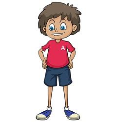 A smiling boy vector image vector image