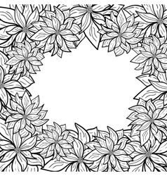 abstract background with a symbolical flowers vector image