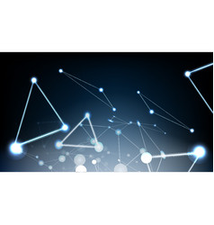 abstract technological glowing light effect vector image